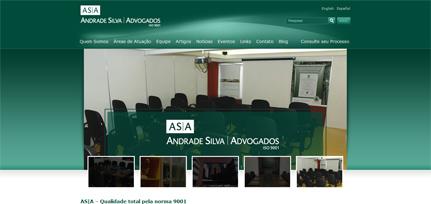 Andrade Silva Advogados - Novo Site  com Integração de CMS