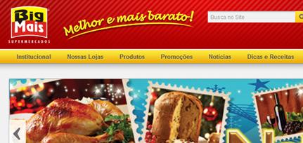 Big Mais Supermercados - Site Institucional