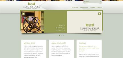 Martins de Sá  - Site Institucional
