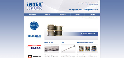 Intercabos - Site HTML