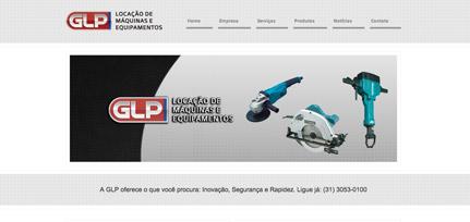 Site GLP Locações - Template personalizado pela RAZZ